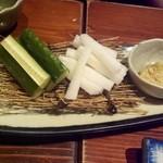 福の花 - 糂汰味噌と野菜スティック 410円