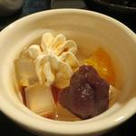 仕立屋・小町通り - 寒天、オレンジ、こしあん、クリームのデザートアップ