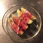 バレアリック飲食店 - 水茄子の生ハム巻き