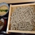 香るつけ蕎麦 蕎麦花 - 「らんち限定セットの焙煎木の実のつけせいろのランチ1100円」