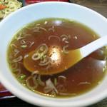 千徳 - 付け合せのスープは落ち着く味わい