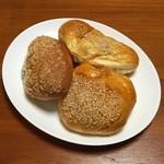 アユート・ウチヤマ - 栗あんパン・カレーパン・緑茶パン
