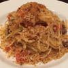 おさむの店 - 料理写真:ランチのパスタ(大盛)。 イワシとレーズンのスパゲティ、シチリアパン粉がけ