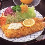 やま城 - 料理写真:なんと言っても名物「ジャンボ海老定食」