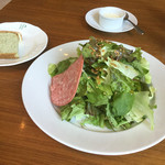 エノテーカ  イプリミ ギンザ - Bランチの大盛りサラダ