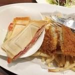 恵比壽ビヤホール - ホットサンドとフィッシュアンドチップスランチ950円