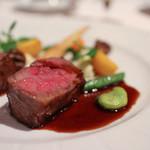 レストラン プランデルブ北鎌倉 - 肉料理:和牛ロース肉のポワレ ボルドレーズソース☆