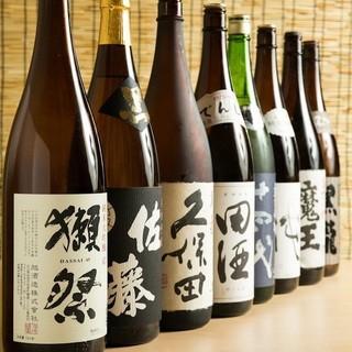銘酒『獺祭』も!!日本酒や焼酎など充実したドリンクメニュー