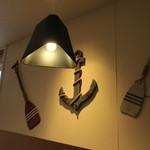 デニーズ - 壁には碇のオブジェ☆