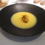 51813817 - 熊本県産とうもろこしの冷製スープ コンソメジュレと共に