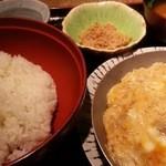 赤坂 ざんまい - ご飯と鍋蓋を開ける 2016.5