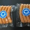稲垣腸詰店 - 料理写真:「荒挽きソーセージ」と「ガーリックソーセージ」