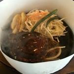 肉のはせ川 - ランチメニューの合挽きハンバーグ(税抜660円)