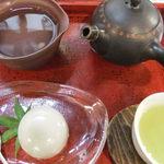 矢野園 喫茶有鄰 - 料理写真:おちゃと和菓子