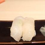 美乃鮨 - ヒラメ しまだい昆布締め