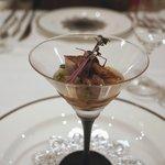 レストラン シュバル ブラン - ホタルイカ、筍のゼリー寄せ
