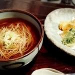 月の蕎麦 - 「天ぷらそば」(¥1,230税別)