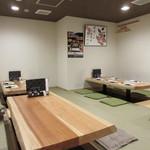 寿司家天神本店 - 20人近い食事会だったんで奥にある掘りごたつ式のお座敷を借りての食事会になりました。