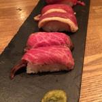 肉ビストロ センバキッチン - 肉のっけ寿司