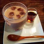 チャフー - ドリンク 豆乳ココア*テンサイ糖のシロップ付。