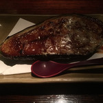 和 BAR 吉田家 - 米茄子の味噌チーズ焼き