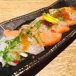 花ごころ - サーモンと鯛のカルパッチョ
