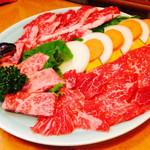 焼肉ハウス金鶴  - 焼肉盛合せ 四人前 ¥5400