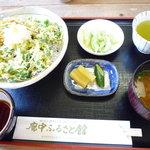 廓中ふるさと館 - かき揚げちりめん丼(¥750)