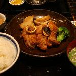 黒長兵衛 - 鶏レモン焼定食@1,280円
