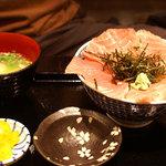 黒長兵衛 - 鮪びっしり丼@1,280円