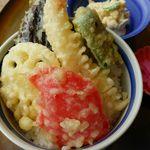 里 - ミニ天丼