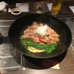雫はなれ - 蒸し物:竹原牛コーネの梅煮