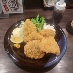 51853524 - 地魚フライ。アジ、サバ、ひらめ、イサキでした。美味!