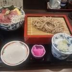 51853528 - もりそばと海鮮丼(990円)