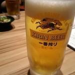 博多たんか - 先ずはビールで乾杯(^.^)