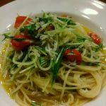 51856703 - しらすと水菜のペペロンチーノ