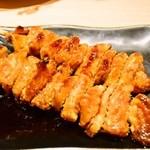 酒家鶏処 炭寅 - 焼き物:皮