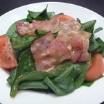 スピガ - サラダホウレンソウとベーコンのホットサラダ