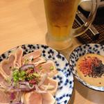 51862987 - 鶏タタキ&生ビール