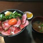 浪花焼肉 肉タレ屋 - ホンマは1,480で食べてほしいローストビーフ丼の全容