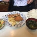 エンドレス - 「ポークジンジャー・クリームコロッケ盛り合わせ」880円