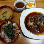 柳橋食堂 - 定食A ミニ海鮮丼とあらかぶ