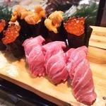 かわなみ鮨 - 大トロ、雲丹、いくら