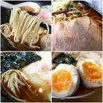 ヨシベー - 細麺と具材たち