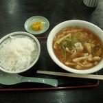 大阪屋 - 京風たぬきと小ライス