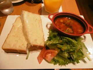 西船珈琲研究所 - ・チーズトースト&スーププレート