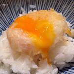 天ぷらめし 金子半之助  - 揚げ卵でTKG