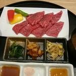 近江牛一筋 農家レストラン だいきち - 近江牛網焼きランチのアップ!