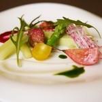 Essen - グリンピースのバヴァロア