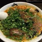 カラシビ味噌らー麺 鬼金棒 - パクチーカラシビ味噌らー麺+味玉